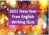 2021 Free English Writing Quiz