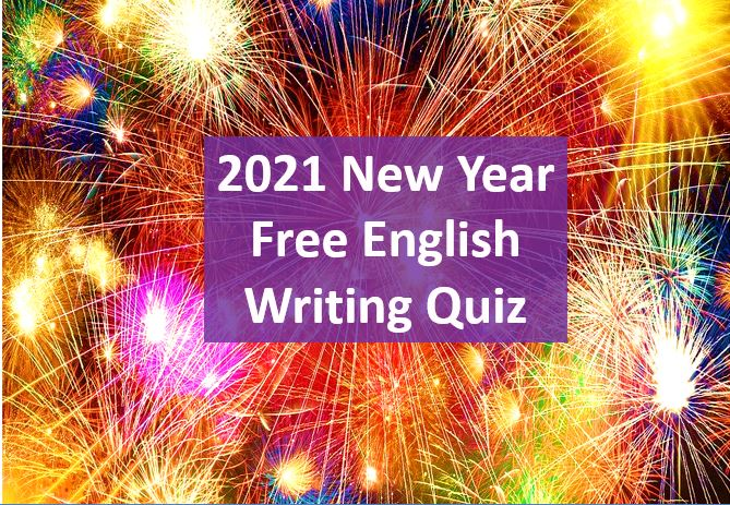 2021 Free English Preposition Writing Quiz