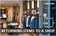 How to return items to a shop in English