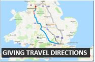 How to give travel directions in English