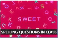 How to ask questions about spelling in an English class at Beginner Level