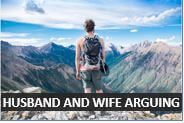 Husband and wife arguing and lost on a mountain - Audio English Lesson