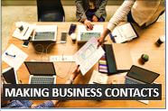 How to make business contacts in English