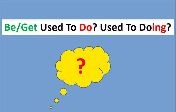Used To Do or Be Used To Doing - what is the difference