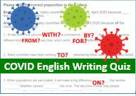 Free English quiz about COVID19