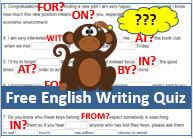 DailyStep English Free Preposition Writing Quiz