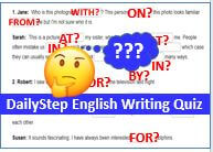 DailyStep English Free Preposition Writing Exercise