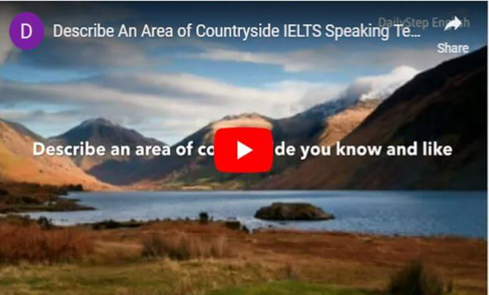 How To Describe An Area Of Countryside for IELTS Speaking Test.