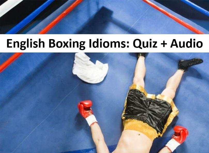Learn English Idioms Related To Boxing