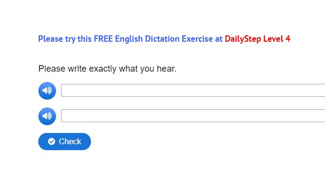 Free English Dictation