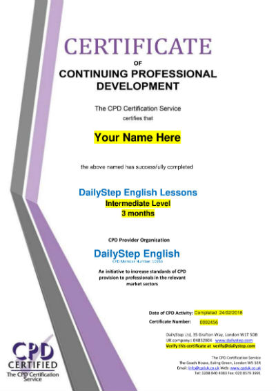 How to get an English Certificate from DailyStep English