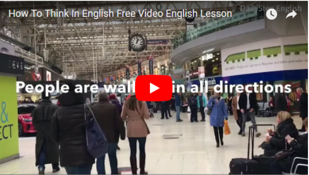 Learn How To Think In English - Free Video English Lesson