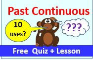 Past Continuous verbs