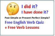 Present Perfect Simple or Past Simple - Free English Verb Quiz