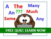FREE English Grammar quiz - Articles