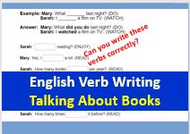 English verbs and books